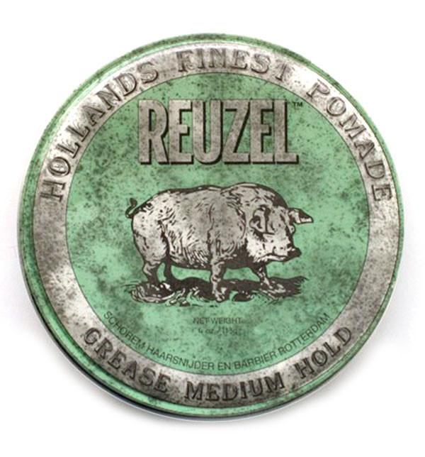 Reuzel Pomáda na vlasy Green Grease Medium Hold Piglet 35g